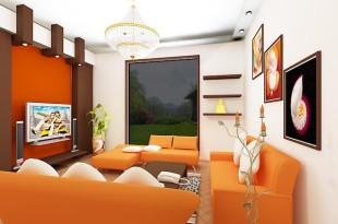 ديكور برتقالي