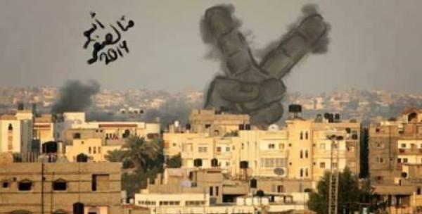 Photo of الغزيون يحولون دخان القصف إلى لوحة فنية تحكي آلامهم و تزيد صمودهم