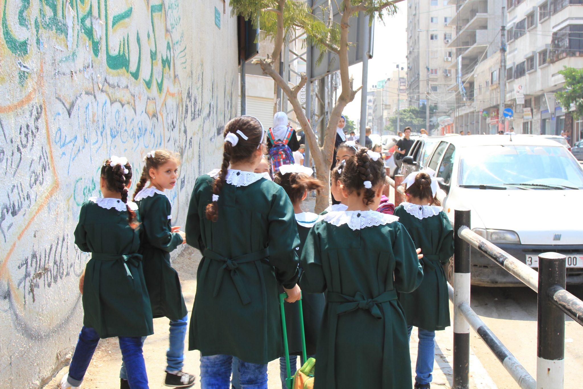 Photo of أول يوم دراسي في قطاع غزة لطلبة المدارس