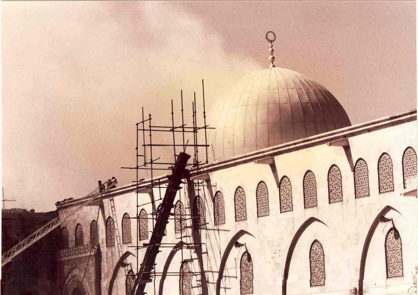 Photo of حريق المسجد الأقصى المبارك