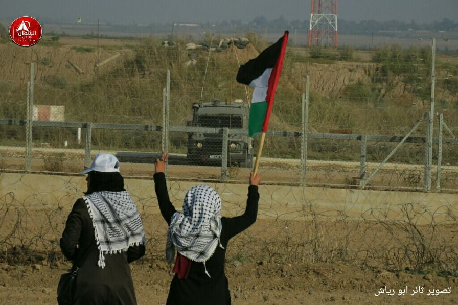 Photo of بالصور: فعاليات الجمعة 69 لمسيرات العودة شرق جباليا شمال القطاع