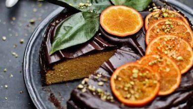 Photo of كيكة البرتقال بصوص الشوكولاتة